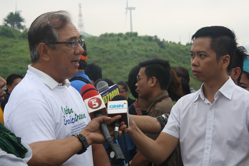 KBP President Ruperto S. Nicdao, Jr, during KBP's Oplan Broadcastreeing in Pillila, Rizal last August 6, 2016
