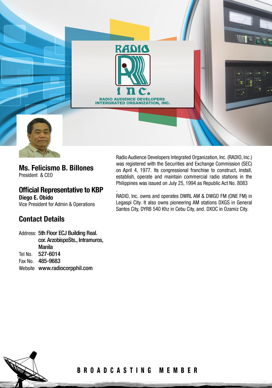 KBP Members – Kapisanan ng mga Brodkaster ng Pilipinas
